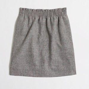J. Crew flecked wool pleated skirt